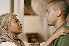 "Photo of Nia Long and Evan Ross, stars of the film ""Mooz-lum."""