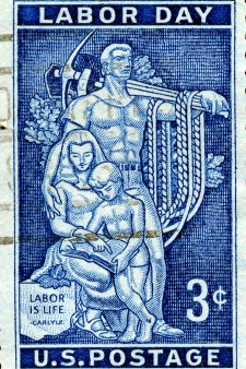 Photo of Labor Day stamp.