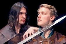 Photo of student actors Lachlan MacQuarrie and Shane Schmidt.