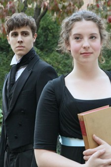 Photo of student-actors Trevor Morgan and Tamsen Glaser.