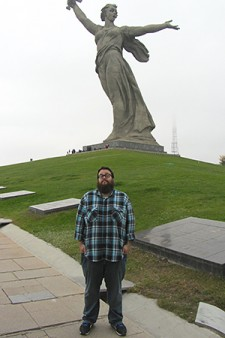 Photo of scholarship recipient Jared Sipes in Russia.