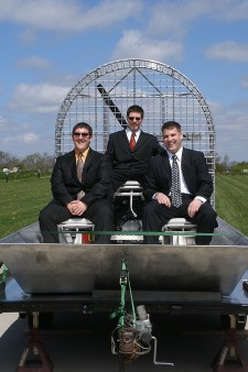 Photo of engineering students with their senior project.