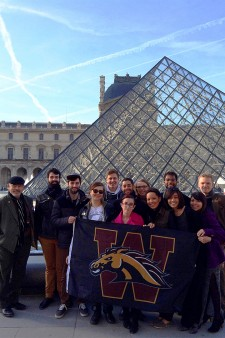 Photo of WMU faculty and students in Paris.