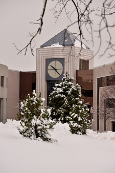 Photo of Waldo Library in winter.