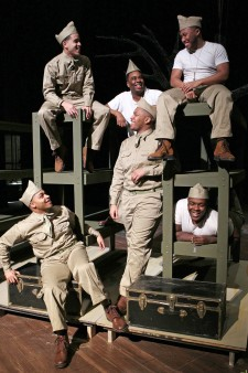 Photo of cast members from A Soldier's Play.