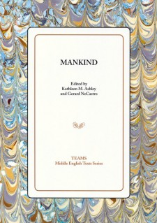 Cover image of Mankind: the title on a white square, over a pastel mottled background