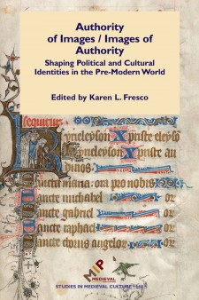 Cover image of Authority of Images/Images of Authority: a medieval manuscript page with a large initial R
