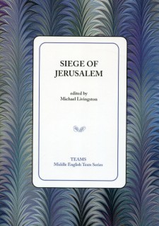 Cover image of Siege of Jerusalem: the title on a white square, over a blue, purple, and grey background