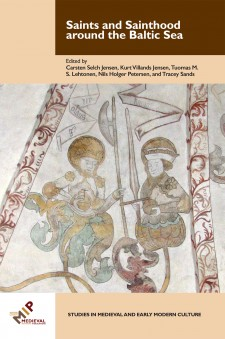 The cover image of Saints and Sainthood around the Baltic Sea: an early medieval image of two saints