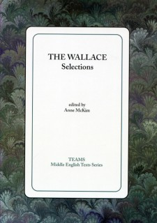 Cover image of The Wallace: Selections: the title on a white square, over a green, purple, and grey swirled background