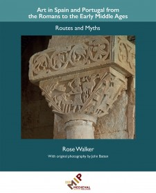 Cover image of Art in Spain and Portugal from the Romans to the Early Middle Ages: Routes and Myths: The Sacrifice of Abraham, San Pedro de la Nave (carving at the top of a stone column)