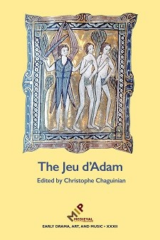 Cover image of The Jeu d'Adam: The Expulsion of Adam and Eve, The Huth Bible, fol. 2r; The Art Institute of Chicago, 1915.533. Photo courtesy of the Index of Christian Art.
