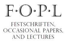Logo of Festschriften, Occasional Papers, and Lectures: the letters FOPL above the name of the series, in black serif text