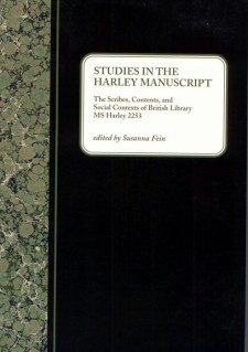 Studies in the Harley Manuscript: The Scribes, Contents, and Social Contexts of British Library MS Harley 2253: The title on a white label on top of a black background