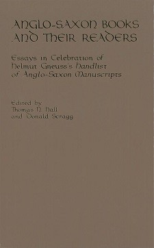 Cover of Anglo-Saxon Books and Their Readers: The title in gold on a brown background.