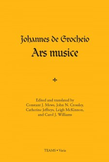 Cover image of Johannes de Grocheio, Ars musice: the title in blue on a yellow background