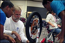 Photo of Building Bikes, Building Community project.