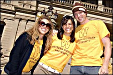 Photo of WMU students at Michigan Capitol.