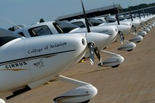 Photo of College of Aviation aircraft.