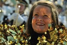 Photo of WMU cheerleader.