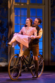 In a scene from The Sound of Music, Rolf rides a bike with Liesl on the handlbars.