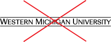 university signature with a red X overlaid