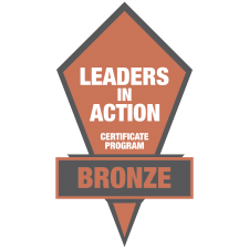 Leaders in Action Bronze Logo