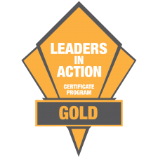 Leaders in Action Gold Logo