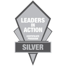 Leaders in Action Silver Logo