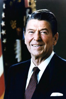 Photo of Ronald Reagan.