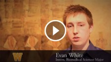 Video still of Evan White's interview.