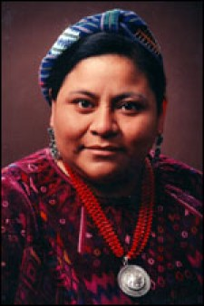 Photo of Rigoberta Menchu .