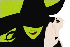 Artwork from Wicked the musical.