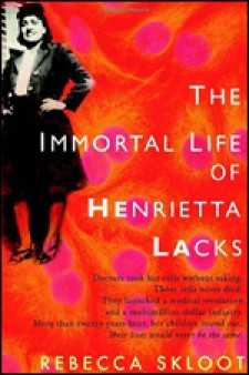 The Immortal Life of Henrietta Lacks book cover.