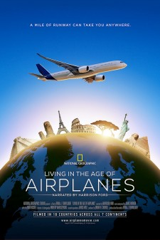 Living in the age of Airplanes movie poster.