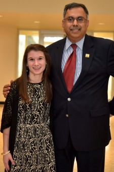 Photo of Lauren Carroll and Dr. Satish Deshpande, WMU.