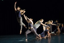 Dancers perform student choreography