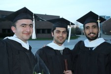 Three WMU graduates after commencemt