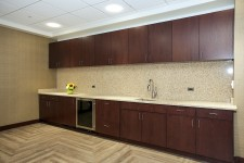 cabinets, countertop and sink in the executive meeting room at wmu-grand rapids, beltline.