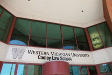 photo of front of Western Michigan University Cooley Law School, Lansing