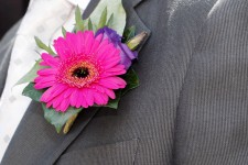 Photo of a pink corsage.