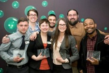 Photo of the winning Western Sustainers team with advisors.