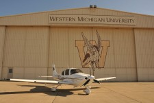 Photo of the hangar at WMU's College of Aviation.