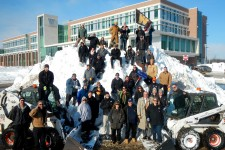 Photo of staff members from WMU's Landscape Services department.