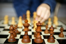 Photo of a chess game.