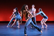 Photo of WMU student dancers on stage.