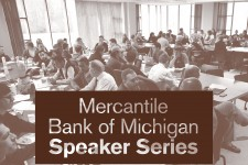 Graphic depicting Mercantile Bank of Michigan Speaker Series.