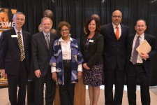 Photo of representatives from WMU, Kalamazoo Public Schools, the Kalamazoo Promise and the Advia Foundation.