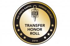 Phi Theta Kappa Transfer Honor Roll logo.