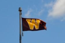 Photo of a WMU flag.